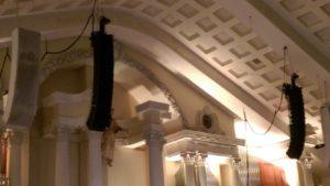 First Pentecostal Little Rock, AR temporary install